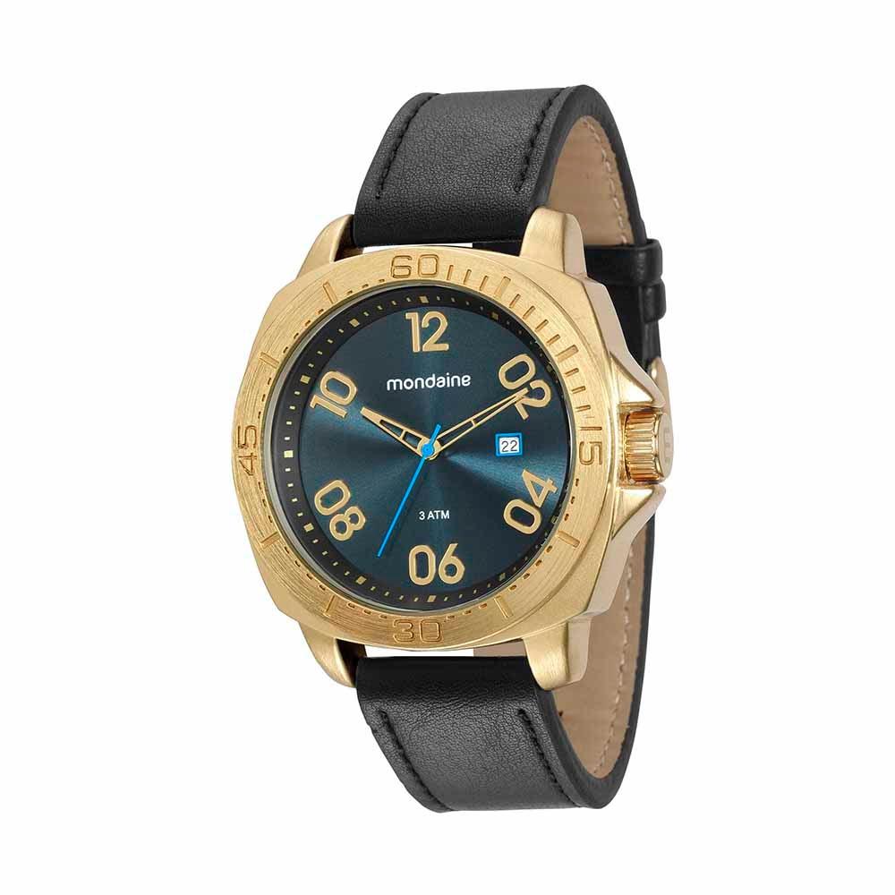 7dd5cfd6d25 Relógio com Calendário Preto - Mondaine
