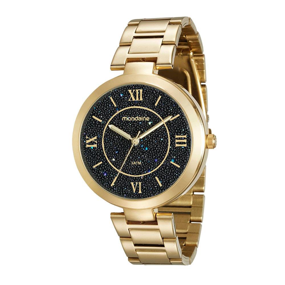 97c705e87f3 Relógio com Cristais Caviar Dourado - Mondaine