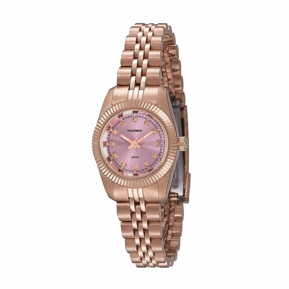 cd7161c6f11 Relógio Cristais com Pulseira em Aço Rosé. 99062LPMVRS6. 99062LPMVRS6