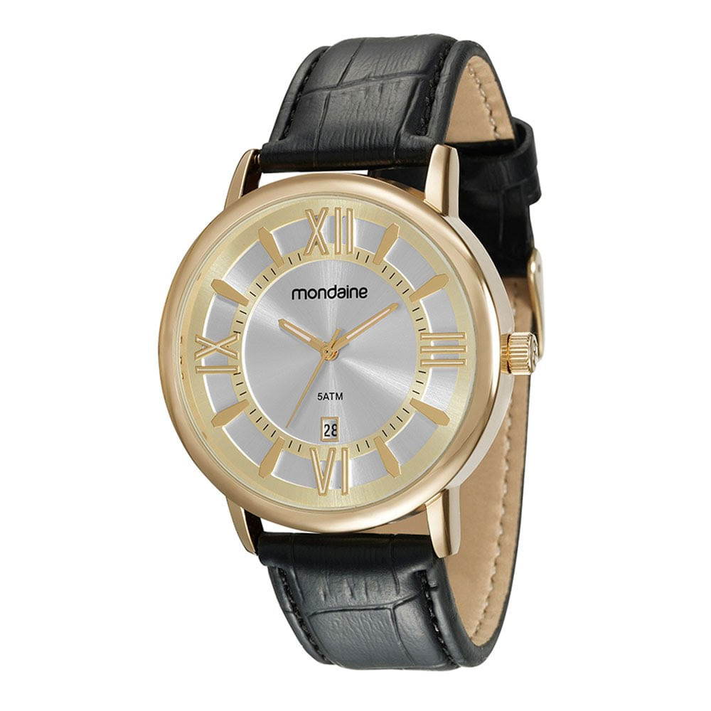 d498fb37d85 Relógio Pulseira Texturizada Preto - Mondaine