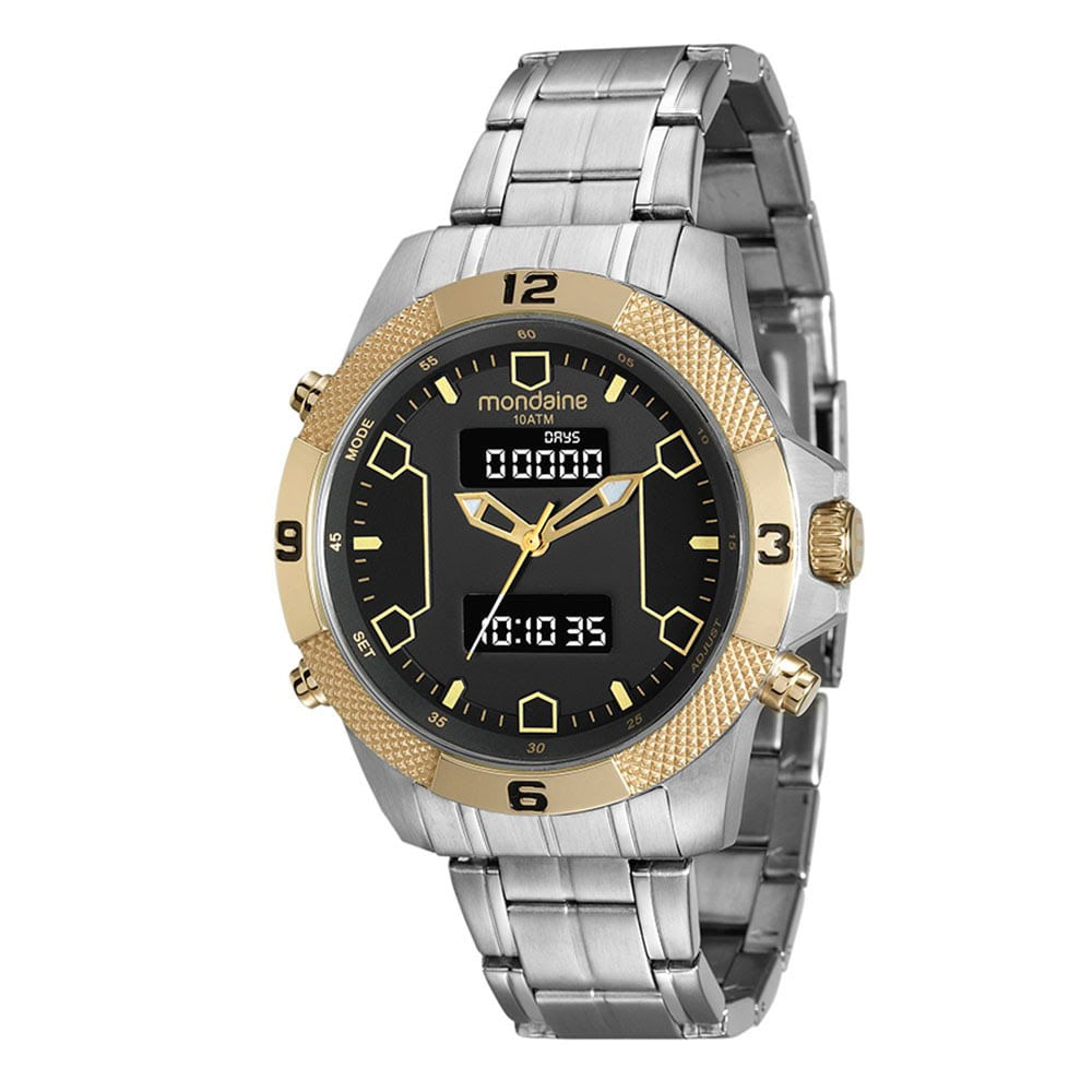 aeee84bd433 Relógio Aço Analógico e Digital Prata 99103GPMVBA1. 99103GPMVBA1.  99103GPMVBA1