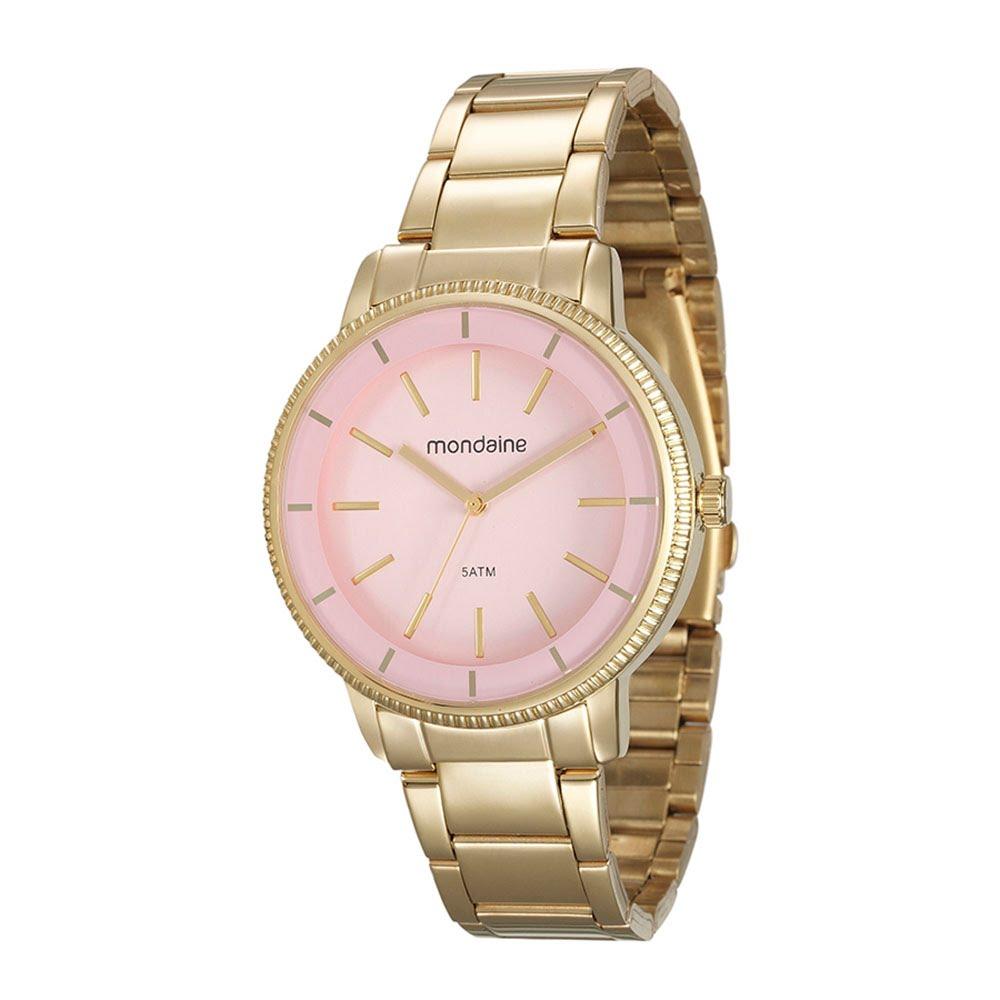 51f67506db6 Relógio Catraca Texturizada Dourado - Mondaine