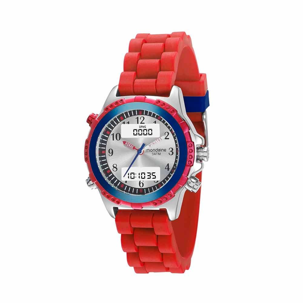 1ddc3a6d17e Relógio Analógico e Digital Vermelho 99180G0MVNI3. 99180G0MVNI3.  99180G0MVNI3