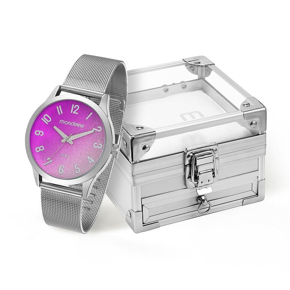 41d52373e6c Relógio com Porta Joias Prata 53547L0MKNE1K1 - Mondaine