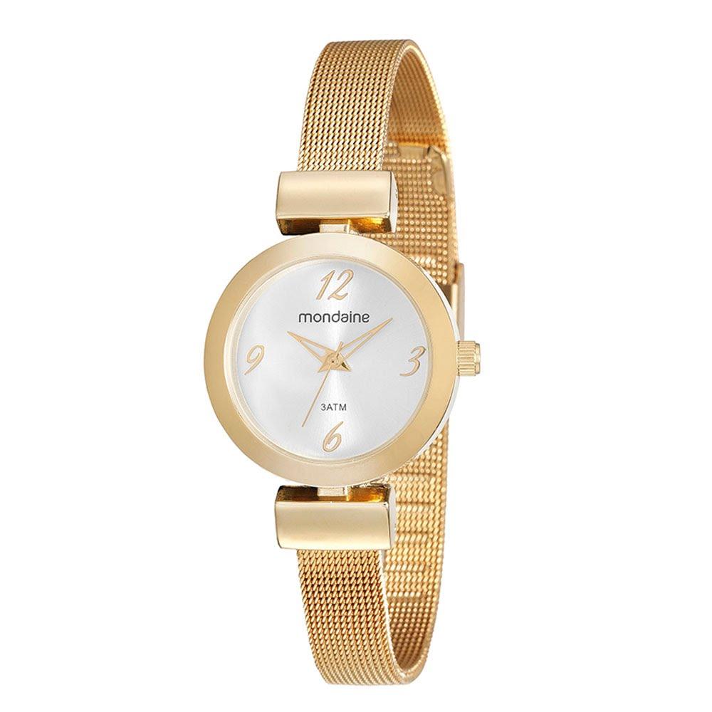 90a8709d5c3 Relógio Pulseira Malha de Metal Dourado 53555LPMVDE1 - Mondaine