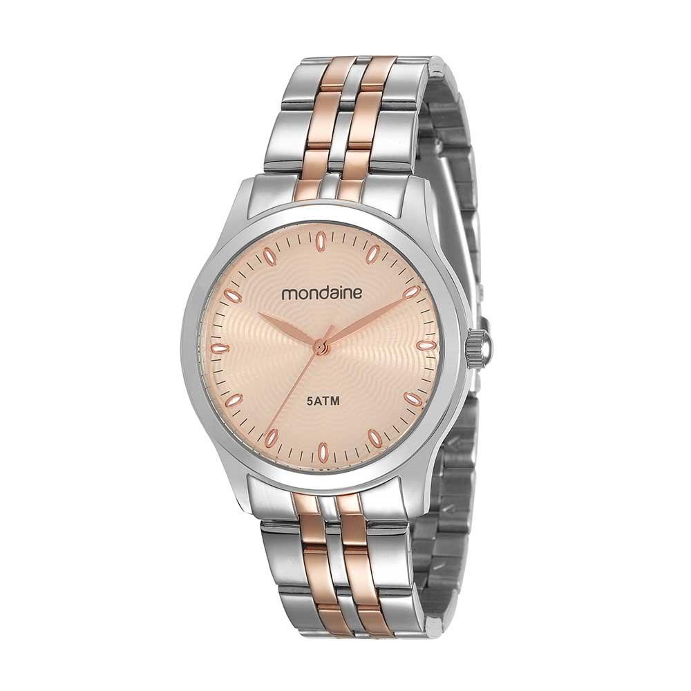 daad7653187 Relógio Visor Texturizado em Aço Prata e Rosé. 78745LPMVGA2. 78745LPMVGA2