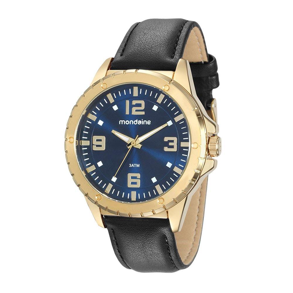 f4d6a0fc41d Relógio Catraca com Detalhes Preto - Mondaine