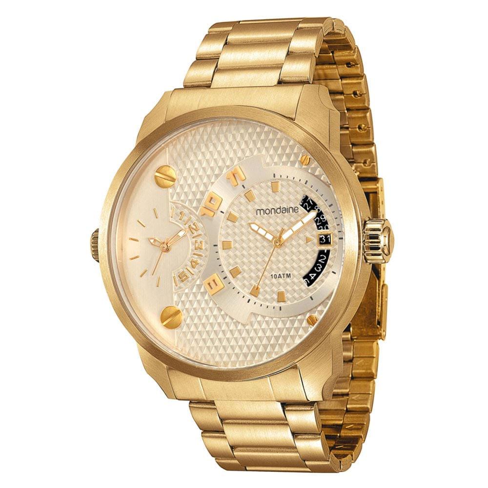 c2e9e553b5e Relógio Duas Máquinas Com Calendário Aço Dourado. 78527GPMVDA3. 78527GPMVDA3