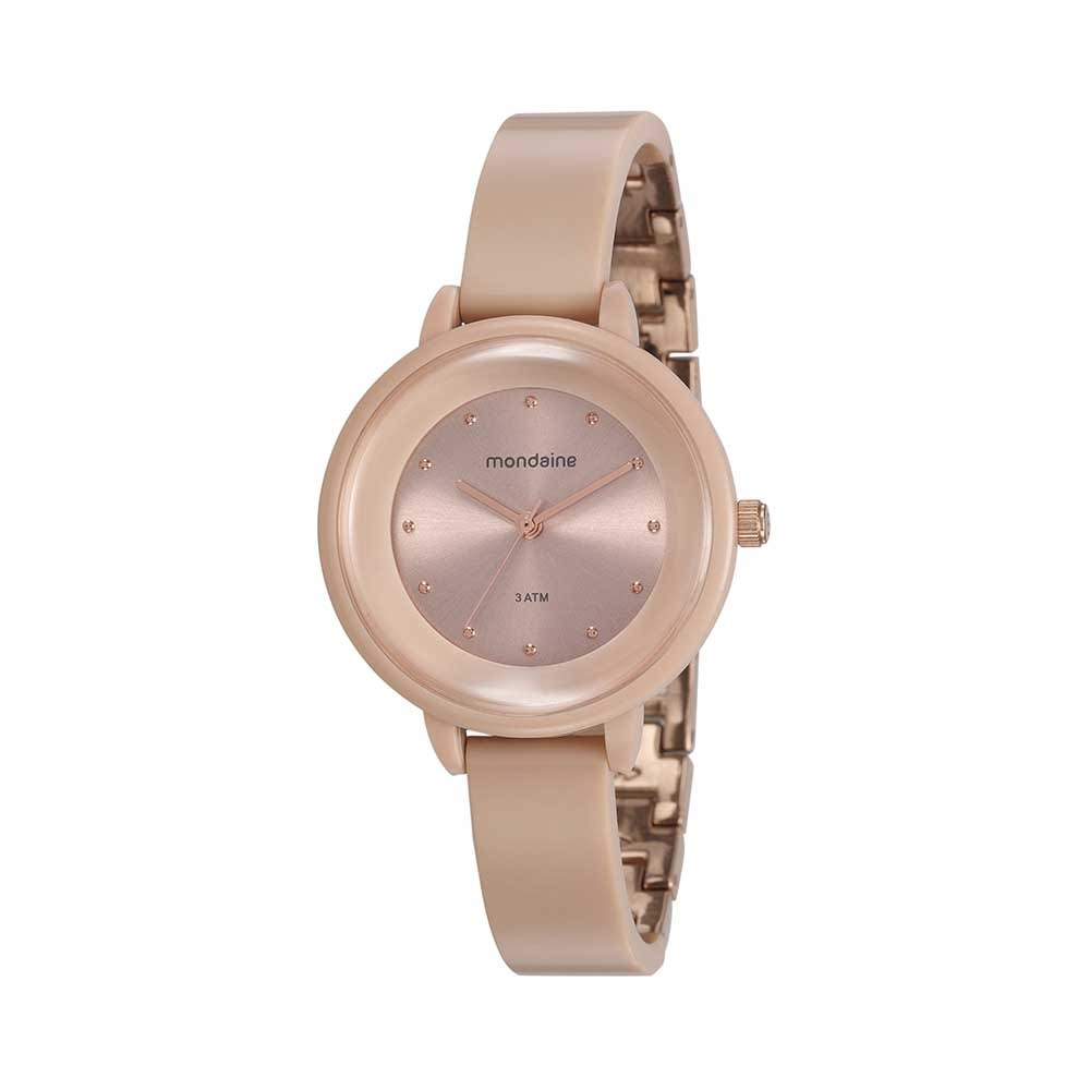 85c8f2064ed Relógio Pulseira em Resina e Metal Rose - Mondaine