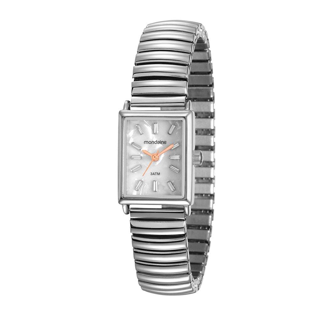 904fab01226 Relógio Quadrado Pulseira Elástica Prata. 99161L0MVNE2. 99161L0MVNE2