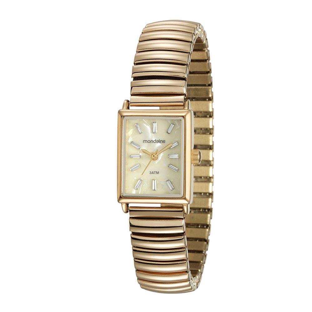 972acdce157 Relógio Quadrado Pulseira Elástica Dourado. 99161LPMVDE1. 99161LPMVDE1
