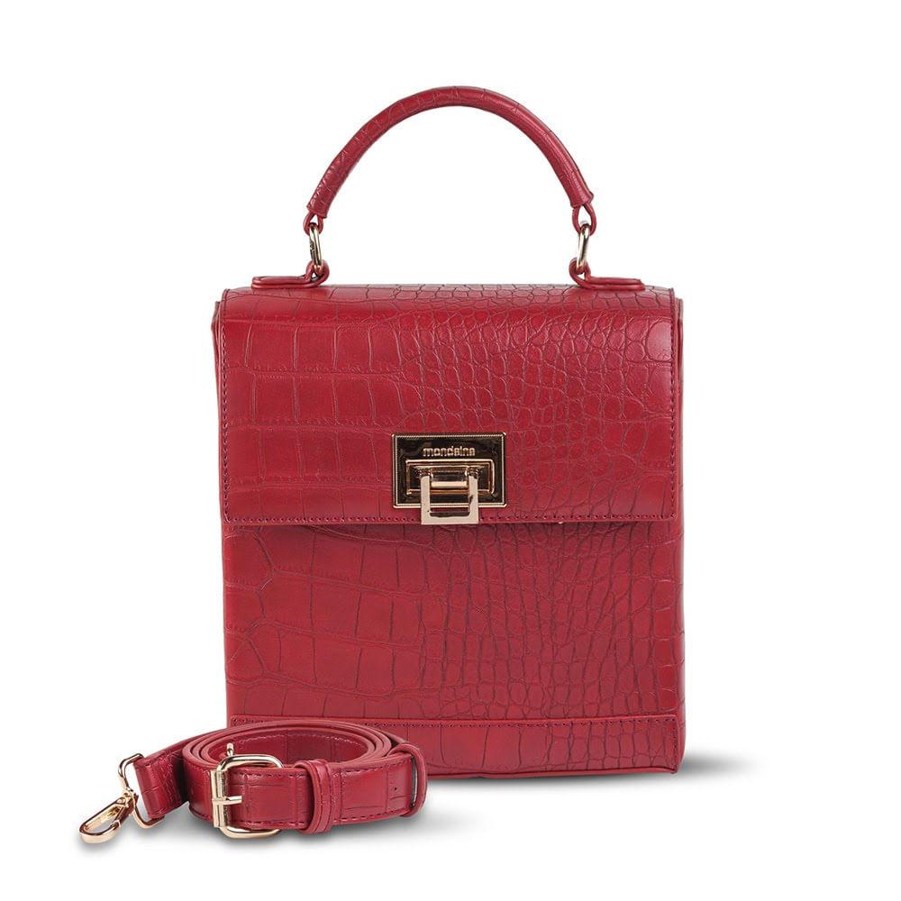 1596d7958 Bolsa Pequena de Mão Vermelha Texturizada. 1600031369. 1600031369
