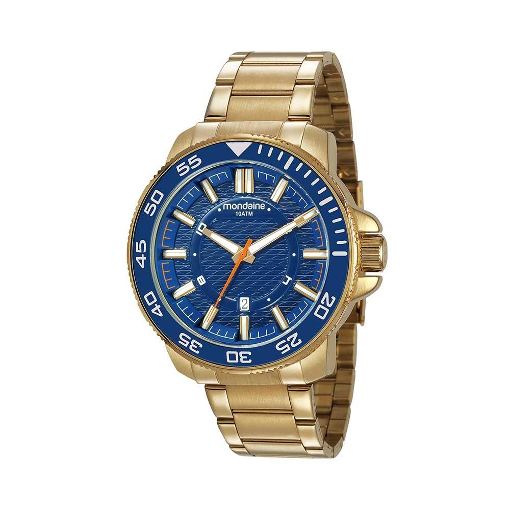 fe154a11916 Relógio Calendário Visor Texturizado Dourado. 53644GPMVDS1. 53644GPMVDS1