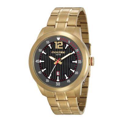714b68dd98f Relógio com Marcadores de Minutos Aço Dourado 78733GPMVDA1 - Mondaine