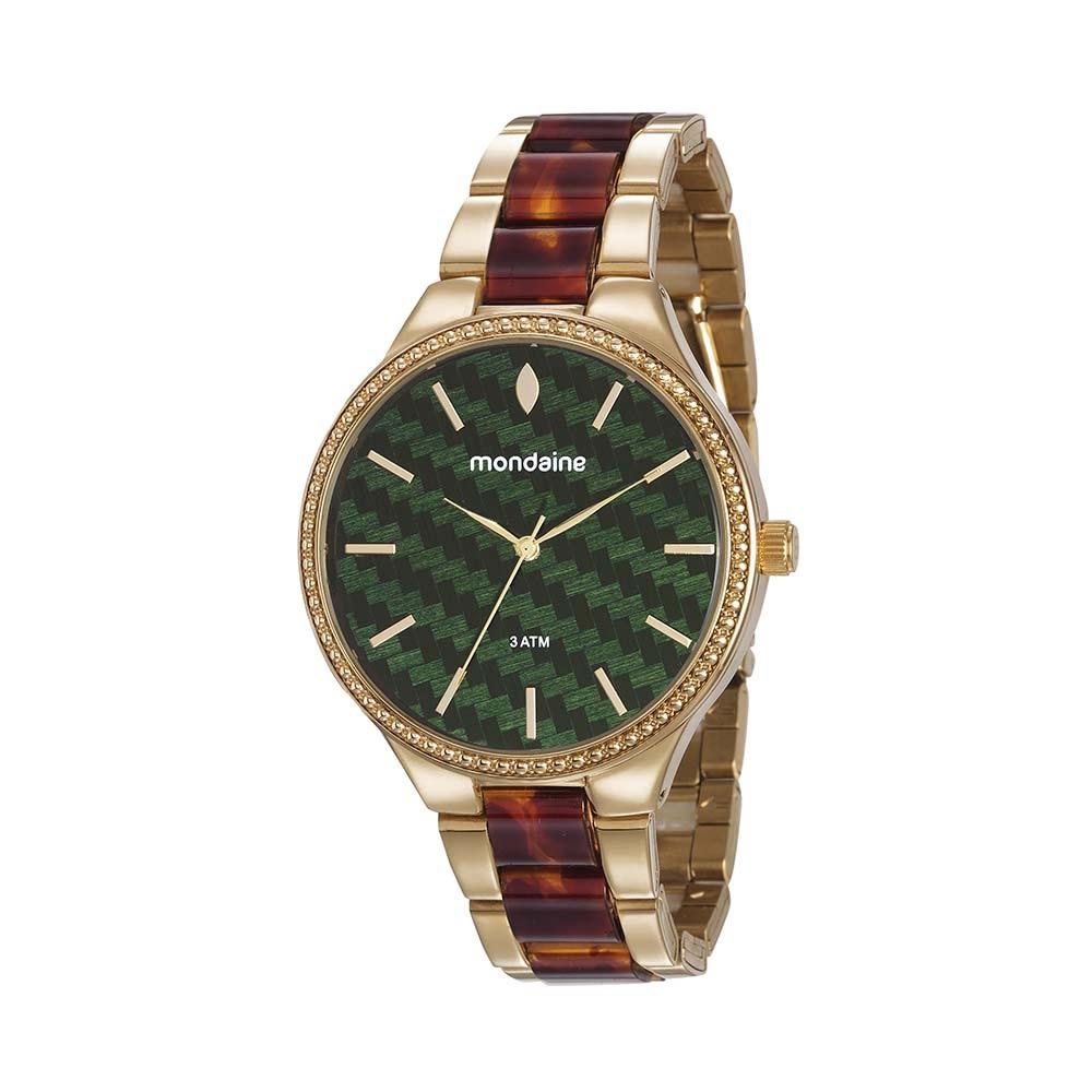 b9bbc742091 Relógio Pulseira Resina e Aço Dourado. 76713LPMVDE2. 76713LPMVDE2