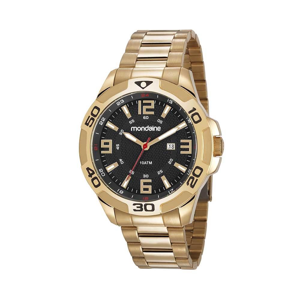 c0c031f3b91 Relógio Calendário Pulseira em Aço Dourado. 83412GPMVDS1. 83412GPMVDS1