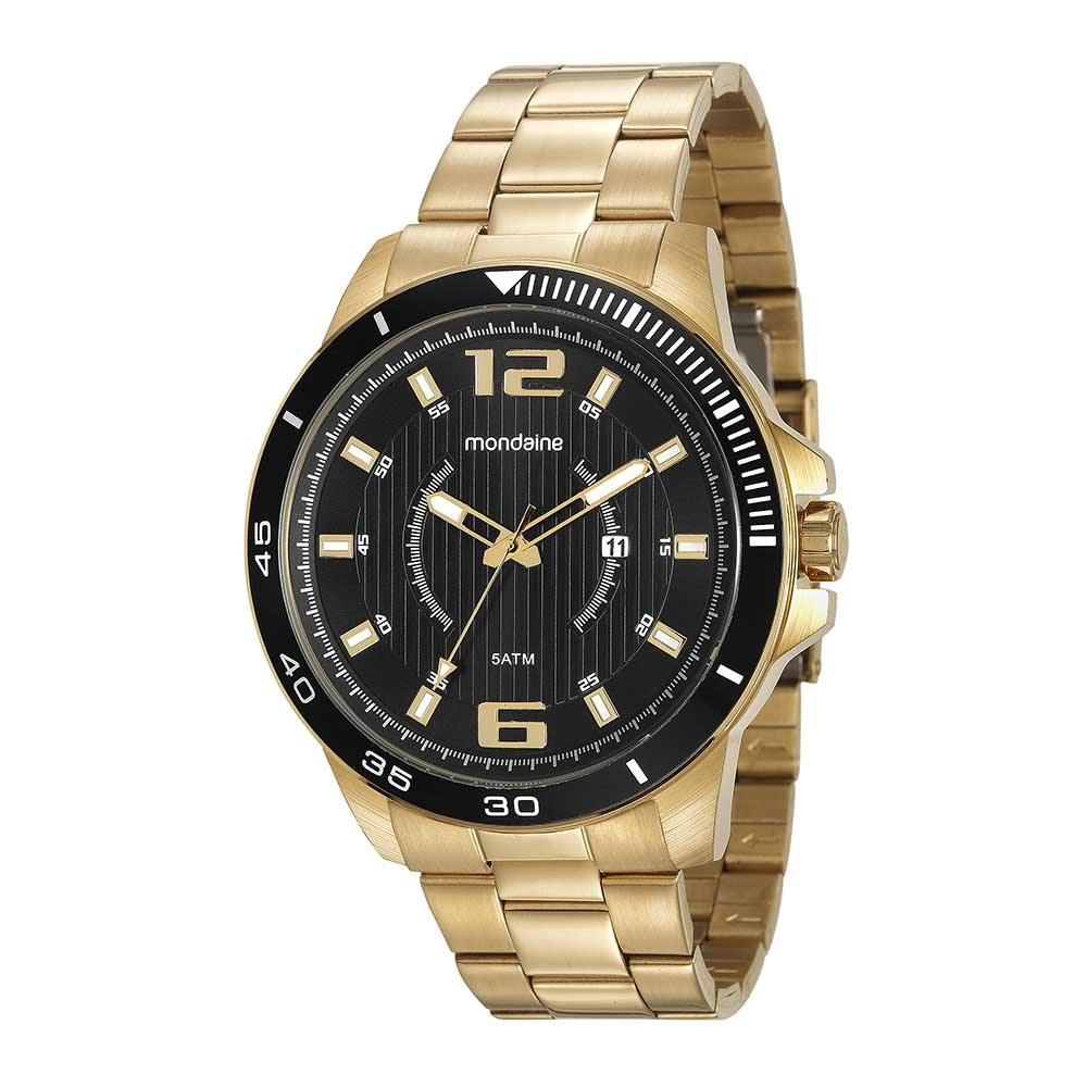 411dab148f7 Relógio Visor Preto Dourado - Mondaine