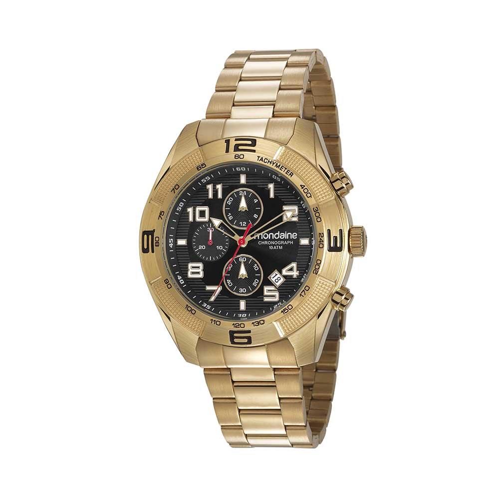 6de053cd849 Relógio Cronógrafo Pulseira em Aço Dourado. 83415GPMVDS1. 83415GPMVDS1