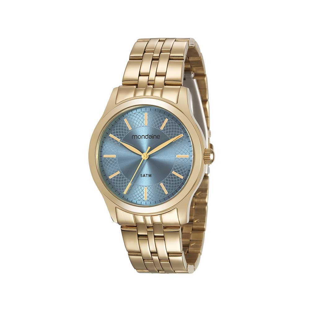 decc6b41e8b Relógio em Aço Visor Texturizado Dourado. 78746LPMVDA1. 78746LPMVDA1