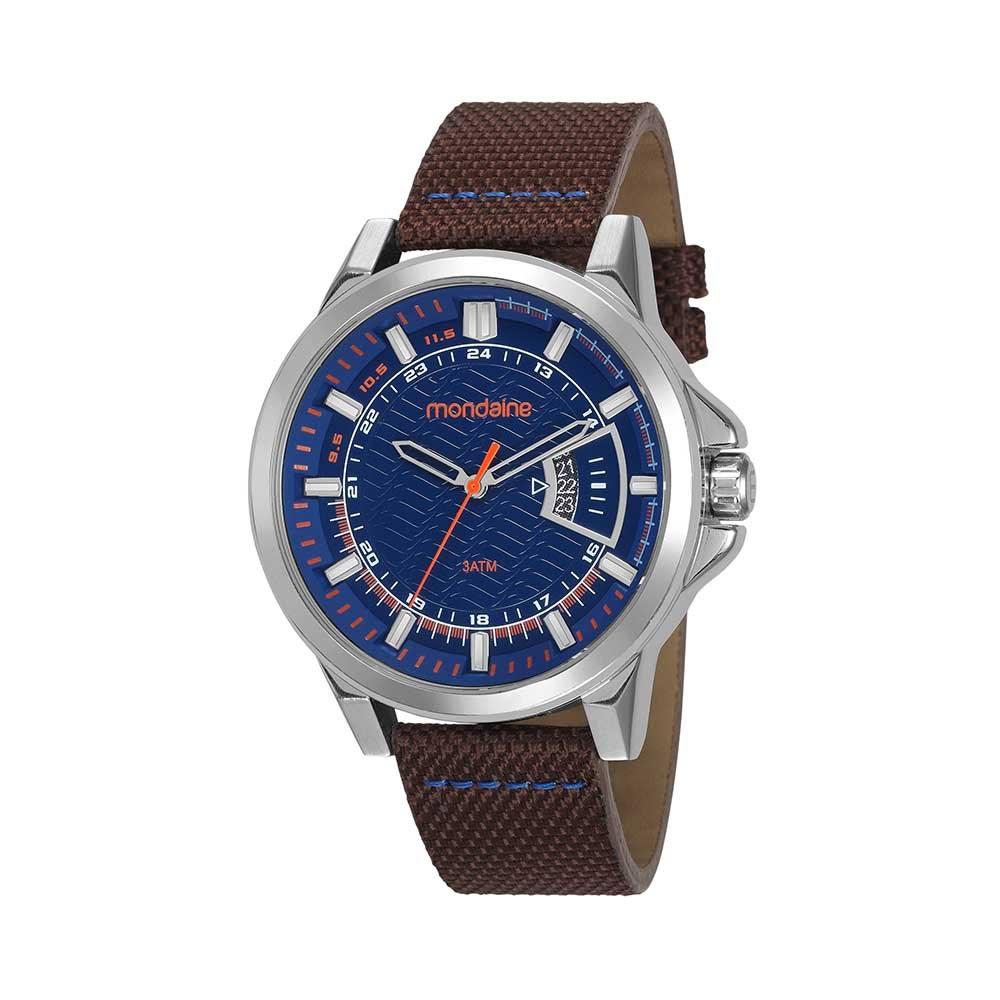 4b6688758ca Relógio Calendário Pulseira em Nylon Marrom. 99333G0MVNJ1. 99333G0MVNJ1
