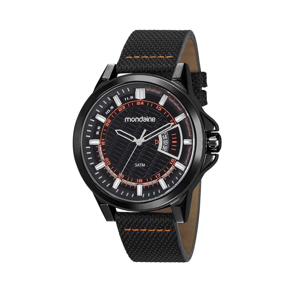 cef481a9e2d Relógio Calendário Pulseira em Nylon Preto. 99333GPMVPJ2. 99333GPMVPJ2