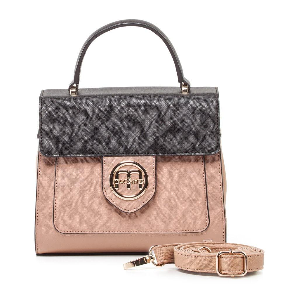 d384b41ff Bolsa Pequena de Mão Bicolor Estruturada com Alça Extra. 1600030099.  1600030099