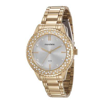 f77ee5bb170 Relógio Visor Octagonal Facetado Dourado - Mondaine
