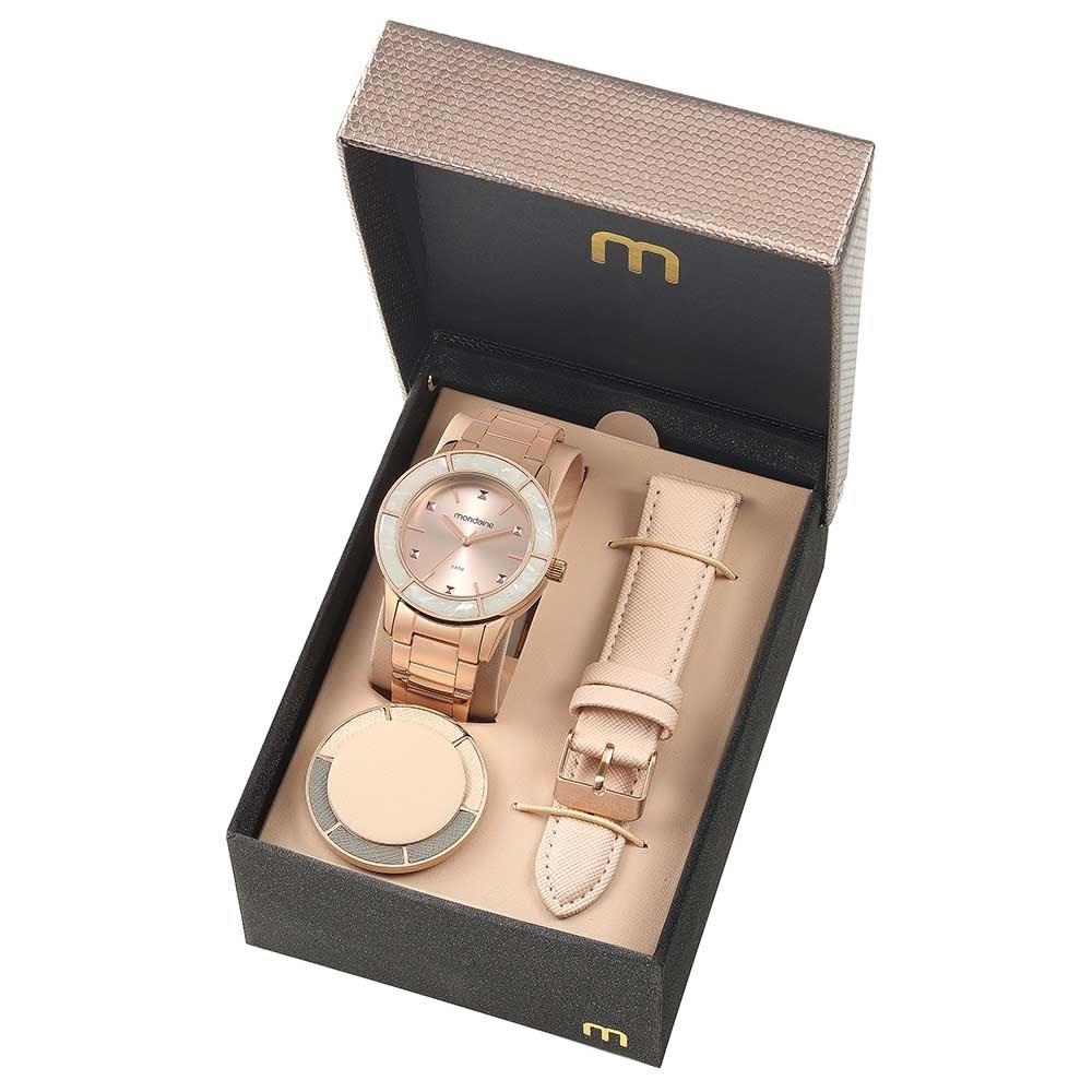 69ea584a2db Relógio Troca Catraca e Pulseira Rosé - Mondaine
