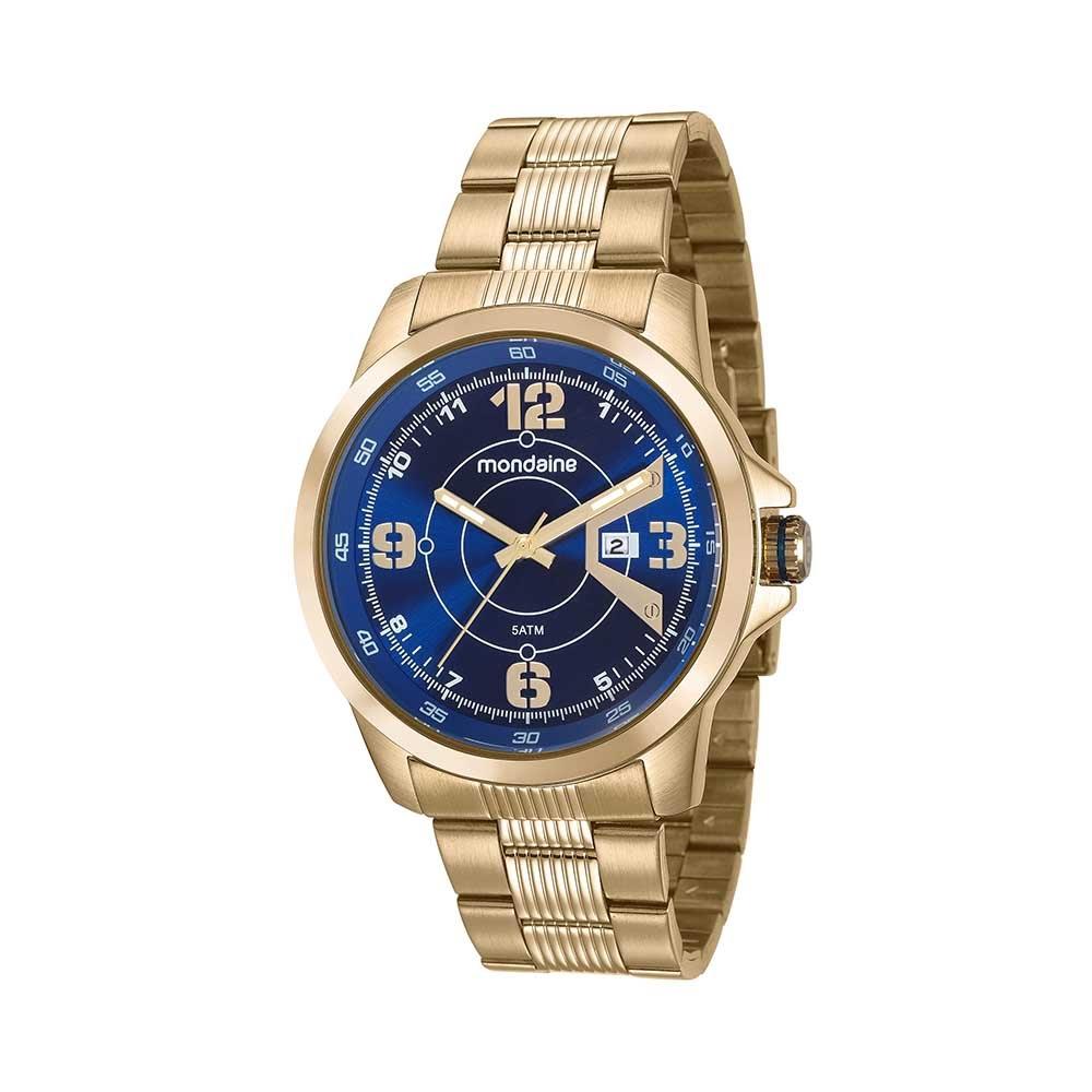 65c90a33e69 Relógio Calendário Pulseira em Aço Dourado. 99335GPMVDS2. 99335GPMVDS2