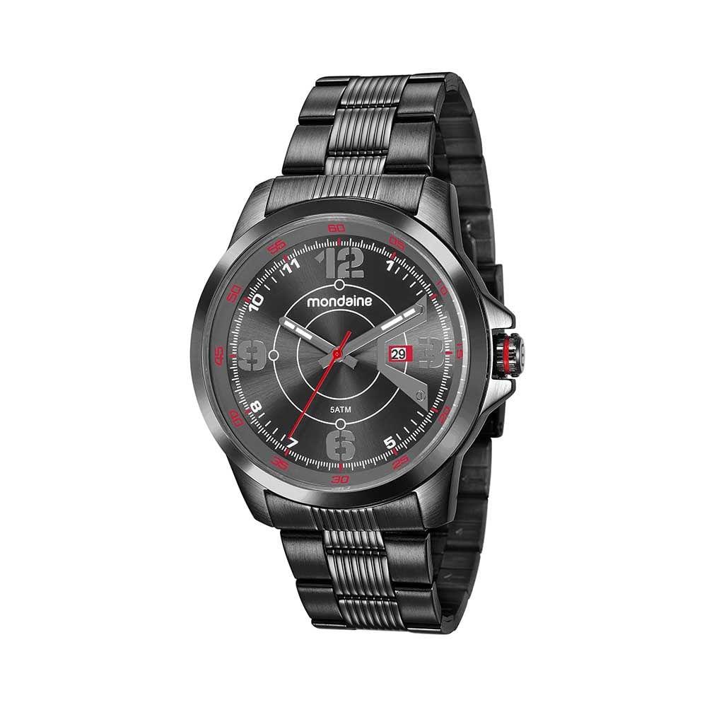 362a0eb76dd Relógio Visor Texturizado Pulseira em Aço Preto. 99335GPMVPS1. 99335GPMVPS1