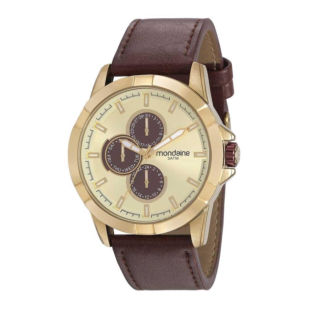 90c078d1327 Relógio Doce Nostalgia Multifunção Marrom - Mondaine