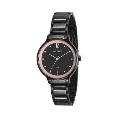 0a877f274b9 Relógio Octagonal Visor Facetado Dourado - Mondaine