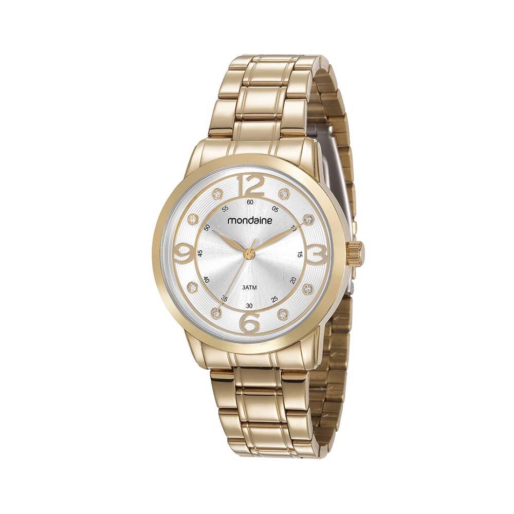 6b0b3c7e090 Relógio Visor com Pedras Dourado. 83367LPMVDE1. 83367LPMVDE1