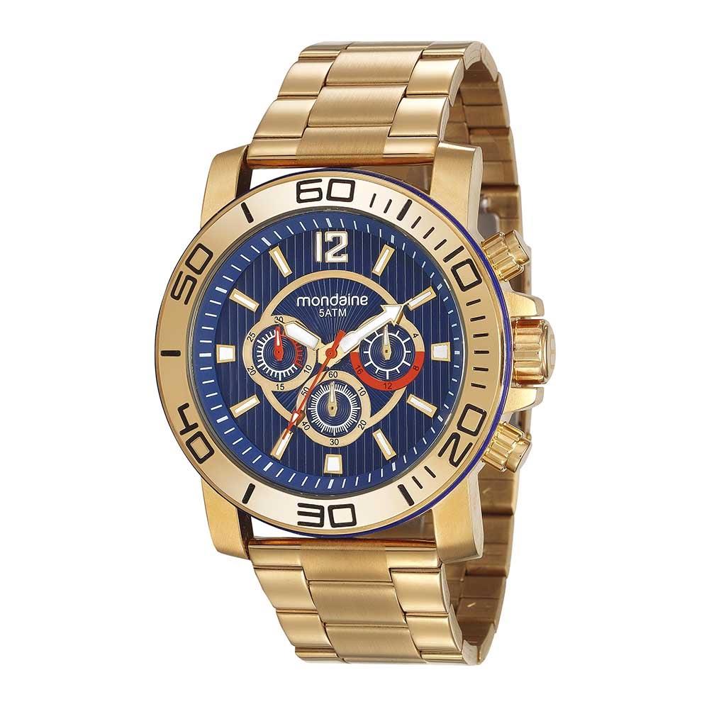 d8ae6c2cd39 Relógio Cronógrafo Pulseira em Aço Dourado. 99264GPMVDS2. 99264GPMVDS2