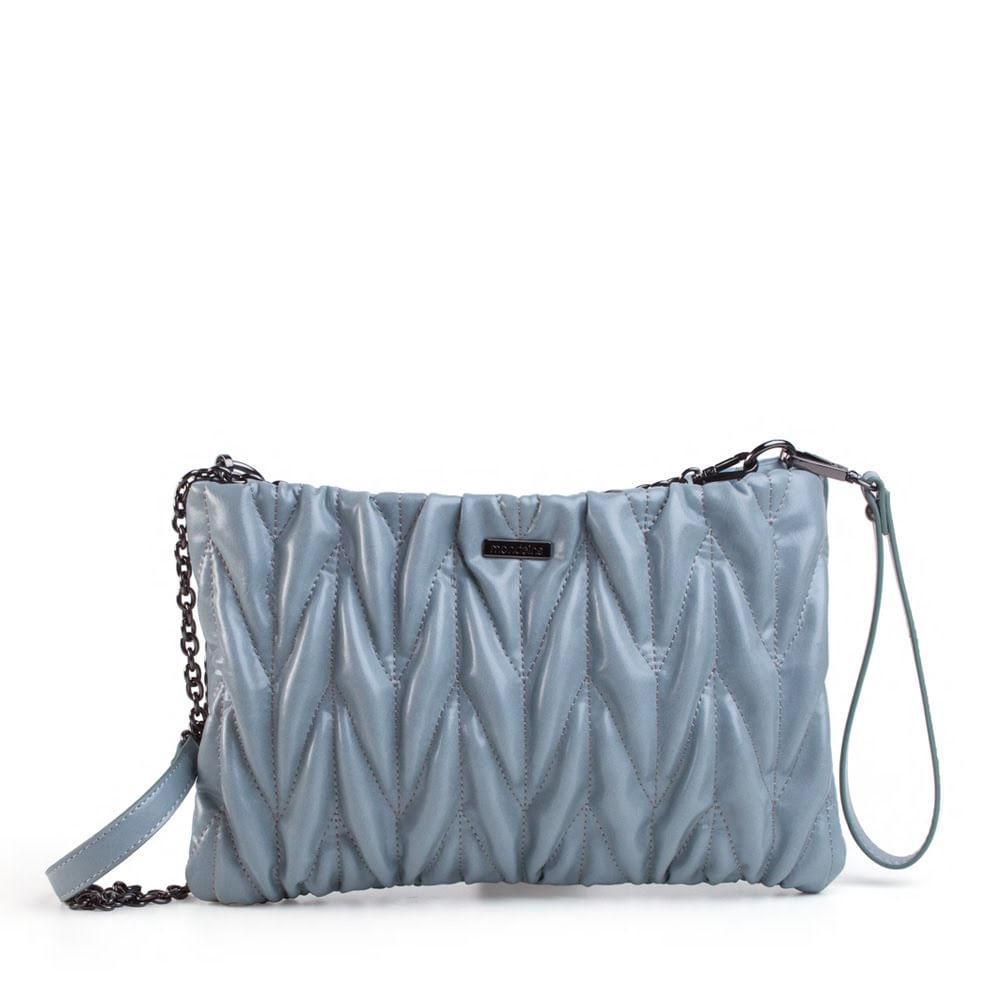 c9d6af59e Bolsa Pequena Transversal Azul Matelassê - Mondaine