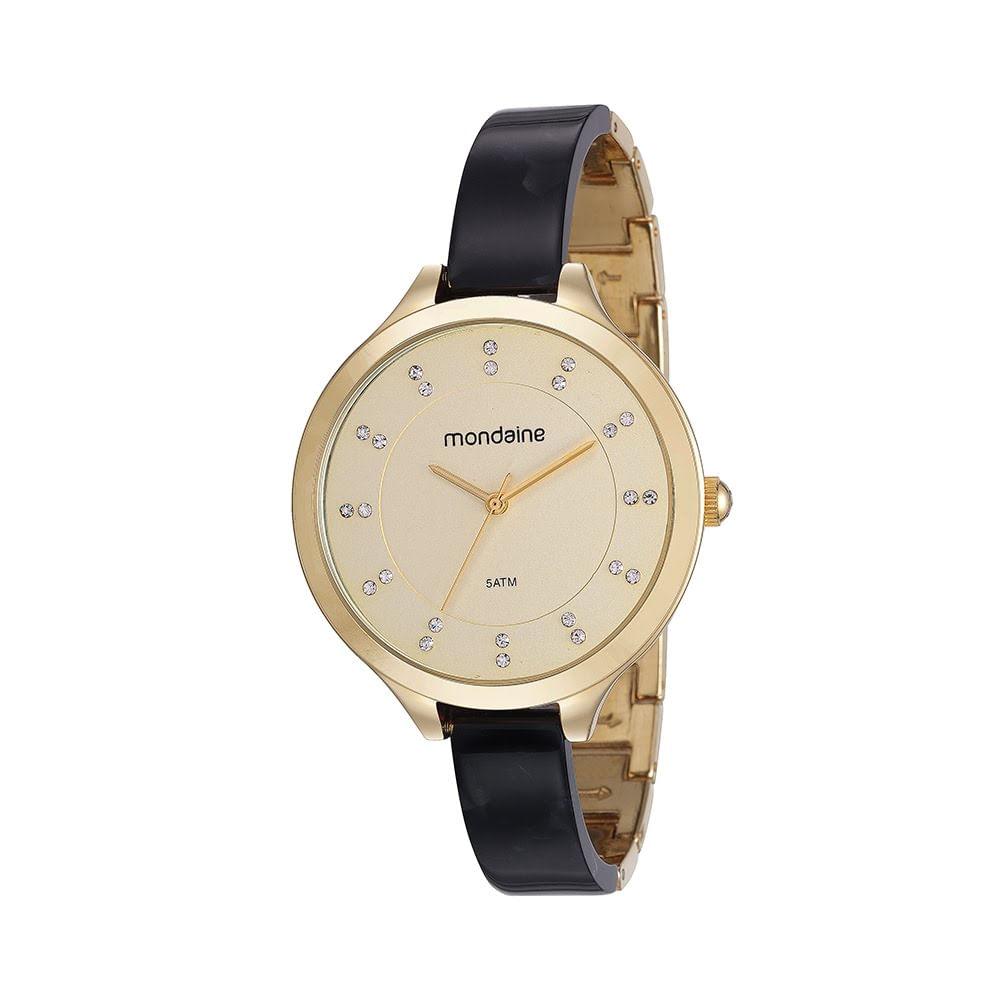 d0e1faacc60 Relógio Pulseira com Acetato Preto - Mondaine