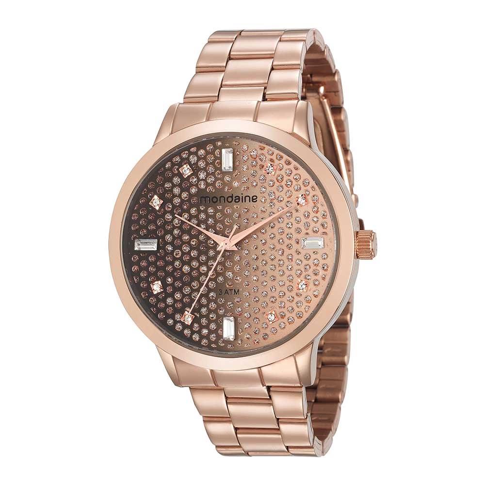 9d4e3537aaf Relógio Visor com Pedrarias Rosé. 76708LPMVRE2. 76708LPMVRE2