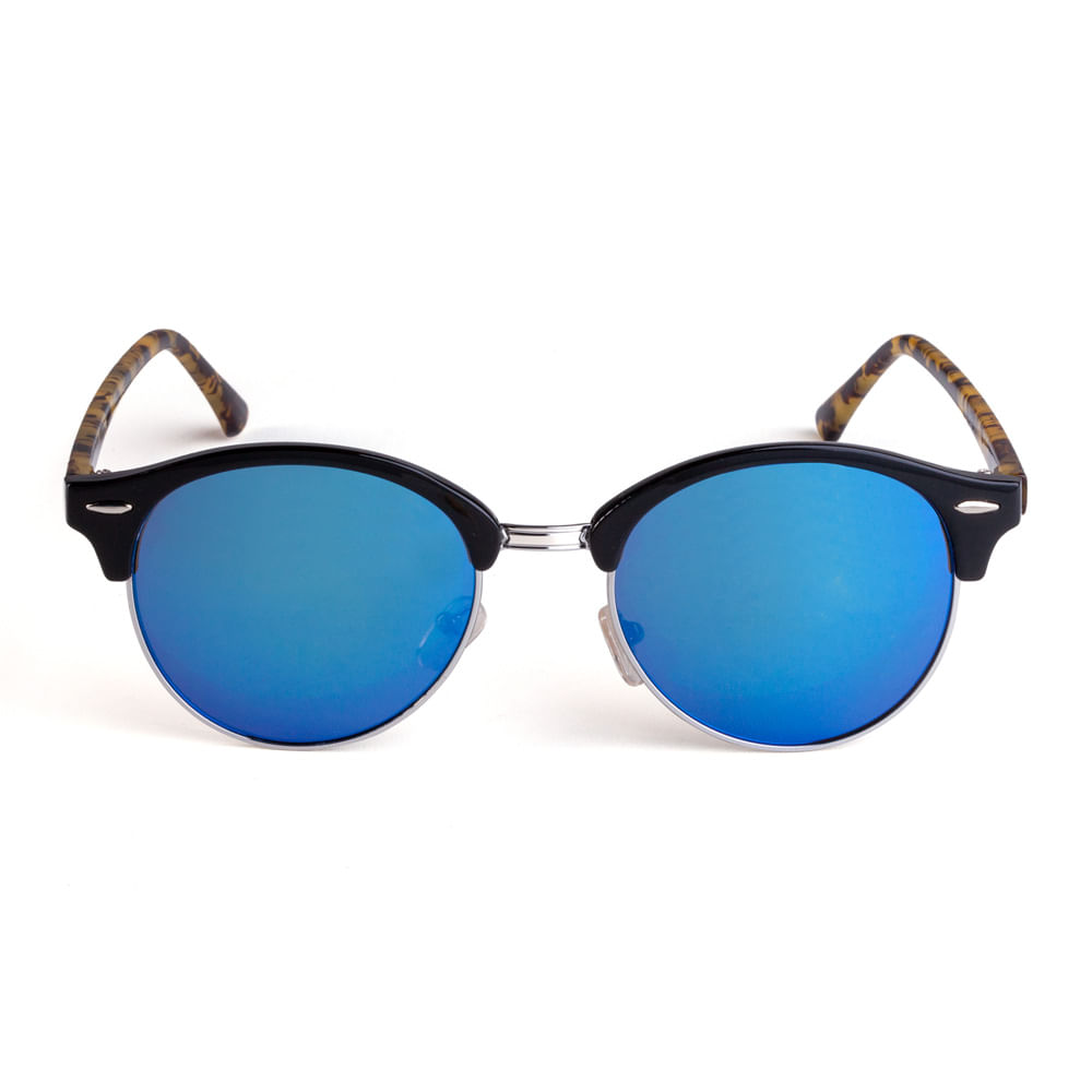Óculos Redondo Acetato Lente Azul Tartaruga. 11028MUMRX08. 11028MUMRX08 59cb8e095b