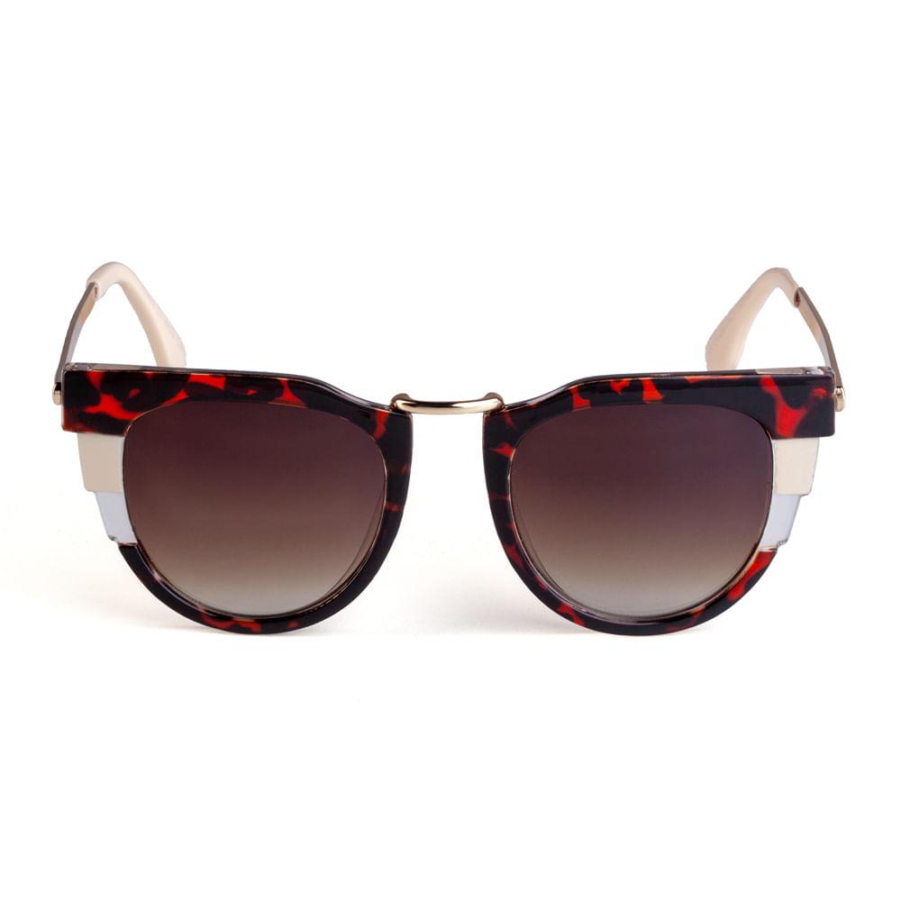 034332a5737f1 Óculos Quadrado Gatinho Metal Tartaruga. 11032MUGGX13. 11032MUGGX13