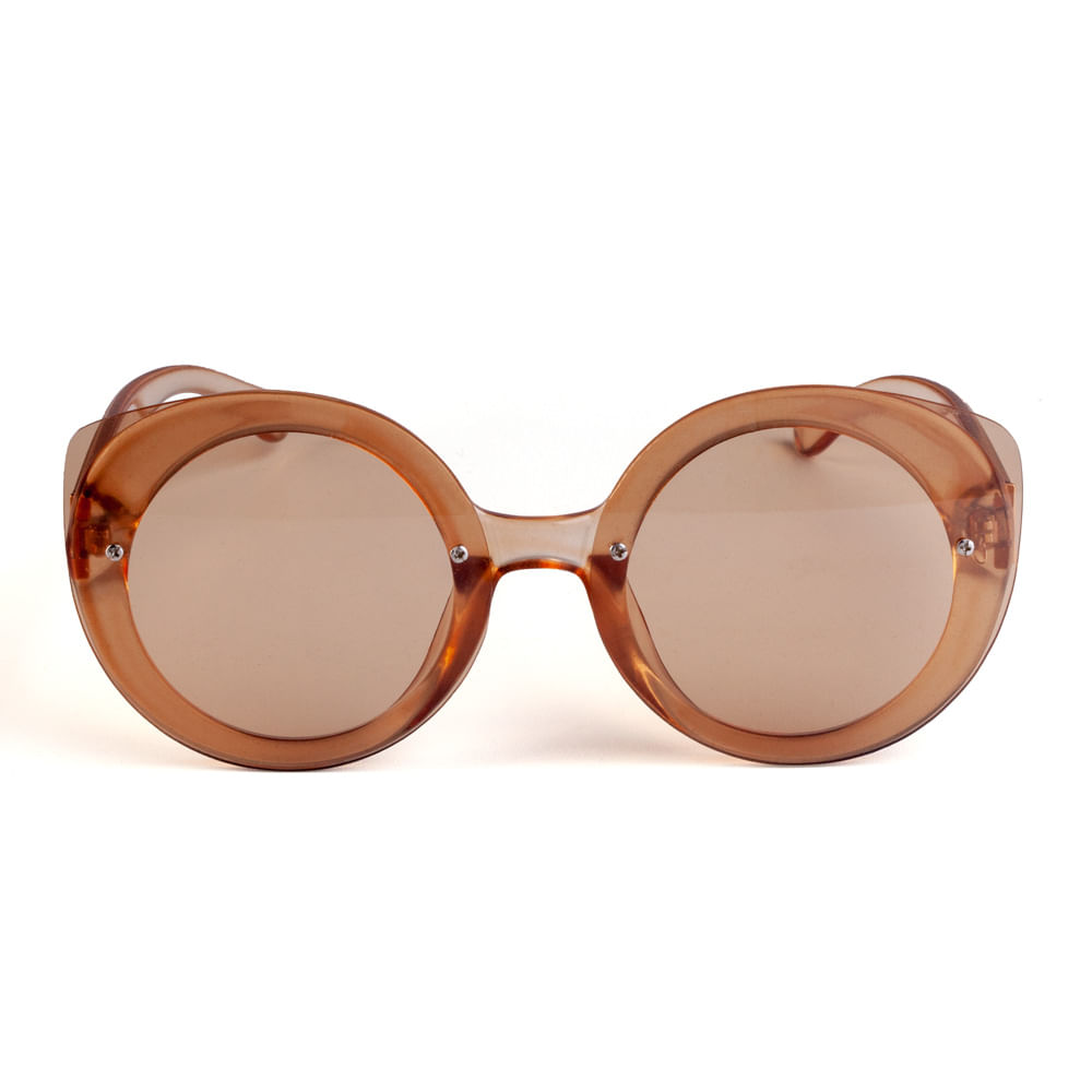 047ba86a2106a Óculos Redondo Acetato Marrom Transparente. 11035MFGRA11. 11035MFGRA11
