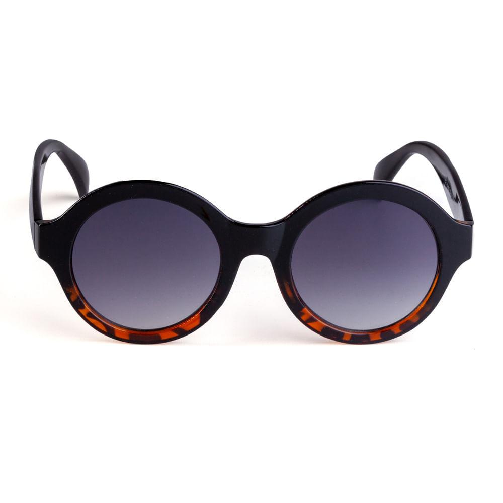 Óculos Redondo Acetato Marrom Escuro com Tartaruga. 11036MFGRA08.  11036MFGRA08 d41ed5c152