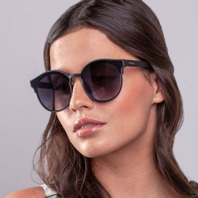 Óculos Redondo Acetato Transparente com Marrom 11025MFGBX06 - Mondaine dc7d278926