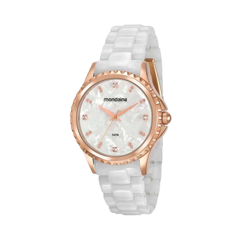 a211690bd Relógio Madrepérola Cristais Branco. 53680LPMVRF2. 53680LPMVRF2