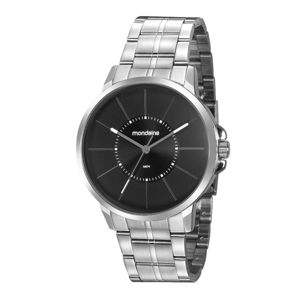 Relógio Clássico Minimalista Prata