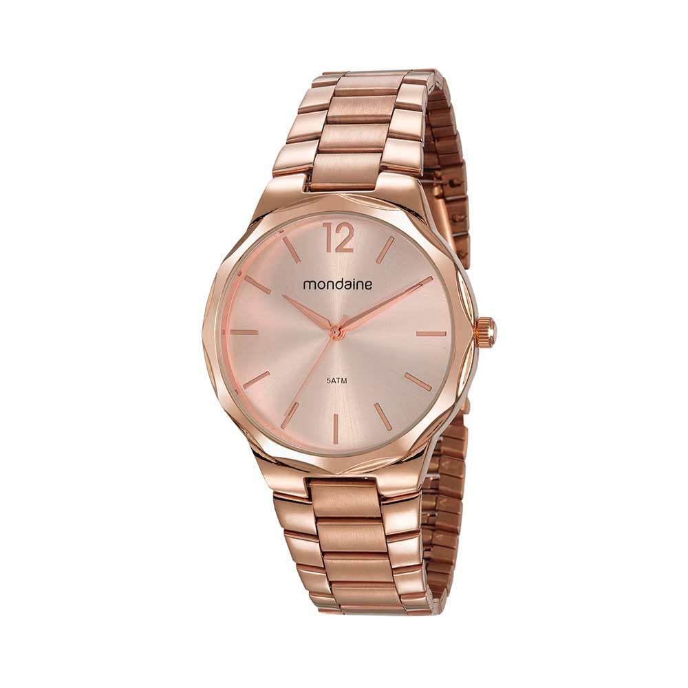 Relógio Catraca Facetada Rosé