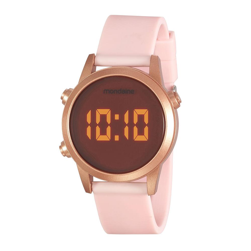 Relógio Digital Esportivo Led Rosa